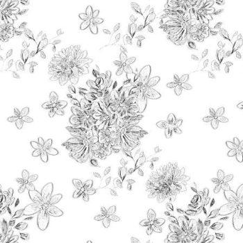 kompozycja kwiatow w odcieniach szarosci