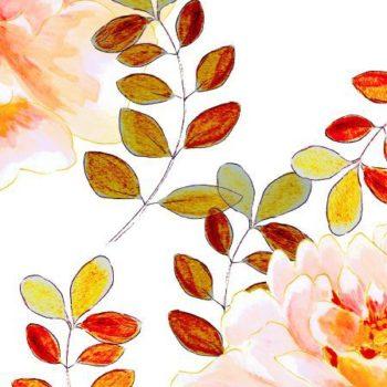 romantyczny kwiatowy wzr z bursztynowymi limi