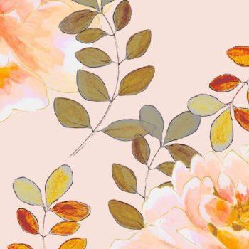 romantyczny wzor w kolorach pastelowych