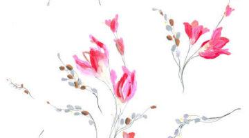 subtelny pastelowy wzor kwiatowy