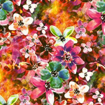 wielobarwny wzor kwiatowy