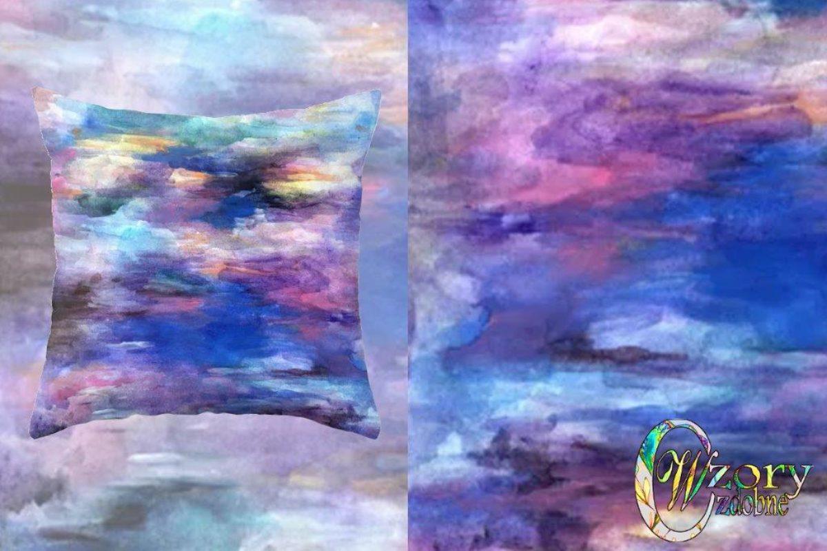 Colors-purple, blue Throw Pillow